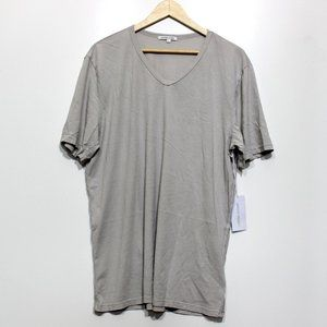 Cotton Citizen Classic V Neck Tee Stone